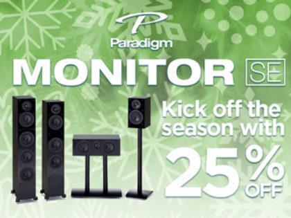 25% OFF Paradigm Monitor SE series!